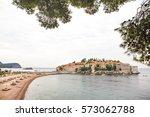 sveti stefan  montenegro | Shutterstock . vector #573062788