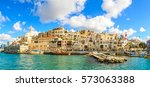 jaffa old city and sea port.... | Shutterstock . vector #573063388
