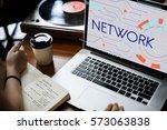 internet social platform media... | Shutterstock . vector #573063838