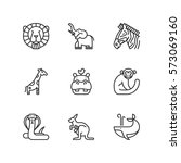 thin line icons set about... | Shutterstock .eps vector #573069160