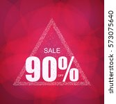 discount the best offer with... | Shutterstock .eps vector #573075640