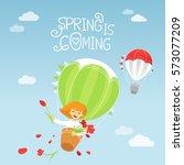 spring is coming. vector... | Shutterstock .eps vector #573077209