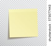 template yellow sticky note... | Shutterstock .eps vector #573077443