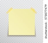 template yellow sticky note... | Shutterstock .eps vector #573077479