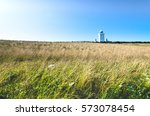 grass bends in the meadow as a... | Shutterstock . vector #573078454
