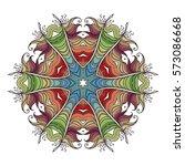 mehndi lace tattoo. art nouveau ... | Shutterstock . vector #573086668
