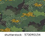 camouflage seamless pattern in... | Shutterstock .eps vector #573090154