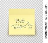 office paper sheet or sticky... | Shutterstock .eps vector #573103384