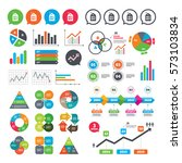 business charts. growth graph.... | Shutterstock .eps vector #573103834