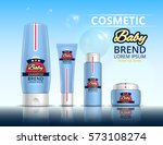 cosmetic set for the baby.... | Shutterstock .eps vector #573108274