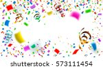 celebration. bright colorful... | Shutterstock . vector #573111454