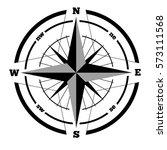 compass wind rose hand drawn...   Shutterstock . vector #573111568
