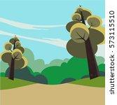 a pathway going through lush...   Shutterstock . vector #573115510