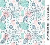 seamless vector floral pattern | Shutterstock .eps vector #573116818