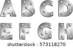 metallic font | Shutterstock .eps vector #573118270