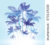 coconut palm trees vector... | Shutterstock .eps vector #573119230
