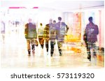 silhouettes of business people... | Shutterstock . vector #573119320