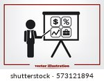 training and presentation ... | Shutterstock .eps vector #573121894