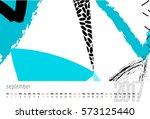 calendar for 2017. month ... | Shutterstock . vector #573125440