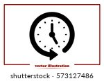 clock icon vector.  | Shutterstock .eps vector #573127486