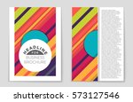 abstract vector layout...   Shutterstock .eps vector #573127546