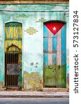 Old Shabby House In Havana Wit...
