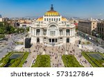Small photo of Palacio de Bellas Artes or Palace of Fine Arts, a famous theater,museum and music venue in Mexico City