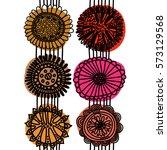 seamless scandinavian pattern... | Shutterstock . vector #573129568
