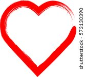 hearts . grunge stamps... | Shutterstock .eps vector #573130390