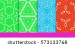set of decorative floral... | Shutterstock .eps vector #573133768