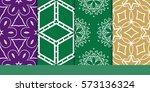 set of seamless texture of... | Shutterstock .eps vector #573136324