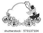 silhouette round frame with... | Shutterstock .eps vector #573137104