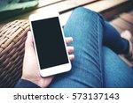 mockup image of hand holding... | Shutterstock . vector #573137143