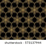flower  geometric seamless... | Shutterstock .eps vector #573137944