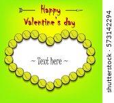 happy valentine's day. frame in ...   Shutterstock .eps vector #573142294