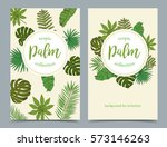 floral tropical banners with...   Shutterstock .eps vector #573146263