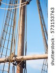 Detail Of Mast Of Old Historic...
