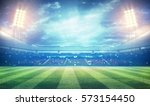 lights at night and stadium 3d | Shutterstock . vector #573154450