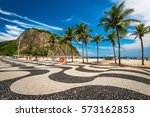 famous mosaic of sidewalk and... | Shutterstock . vector #573162853