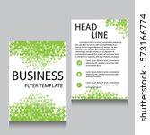 vector brochure flyer design... | Shutterstock .eps vector #573166774