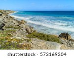 ocean waves and shore  the... | Shutterstock . vector #573169204