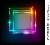 squares banner on colorful... | Shutterstock .eps vector #573170170