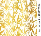 vector golden white bamboo... | Shutterstock .eps vector #573170764