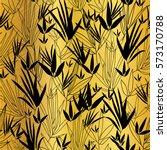 vector golden black bamboo... | Shutterstock .eps vector #573170788