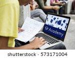 academy certification... | Shutterstock . vector #573171004