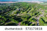 Small photo of Rural subdivision Aerial skyline shot