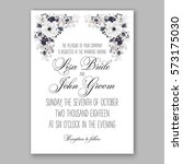 anemone wedding invitation card ... | Shutterstock .eps vector #573175030