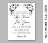 anemone wedding invitation card ... | Shutterstock .eps vector #573175030