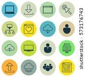 set of 16 internet icons....