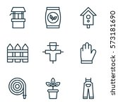 Set Of 9 Planting Icons....